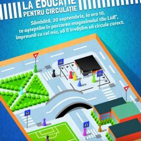 """Pentru al doilea an consecutiv, Lidl şi Poliţia Rutieră Română dau """"Verde la educaţie pentru circulaţie"""""""