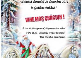 Moș Crăciun vine în Grădina Publică!
