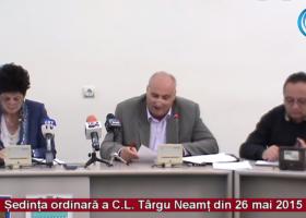 Ședința ordinară a Consiliului Local Târgu Neamț (26 mai 2015)