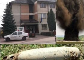 A intrat în sediul Poliției Târgu Neamț cu un proiectil în sacoșă!