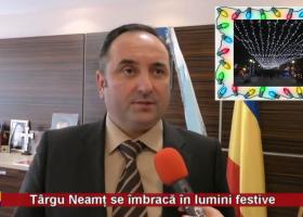 Târgu Neamț se îmbracă în lumini festive
