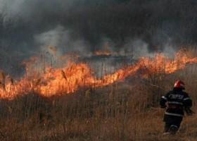 Incendiu de miriște în satul Topolița