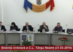 Ședința ordinară a Consiliului Local Târgu Neamț (31.03.2016)