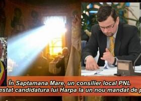 În Săptămâna Mare, un consilier local PNL a contestat candidatura lui Harpa  la un nou mandat de primar