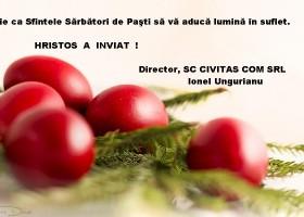Felicitare cu ocazia Sf Pasti  SC Civitas Com SRL