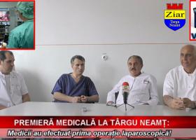 Premieră medicală: prima operație laparoscopică la Spitalul din Târgu Neamț