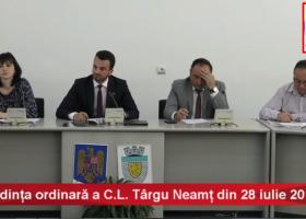 Ședința ordinară a C.L. Târgu Neamț