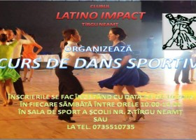 Cursuri de dans sportiv, la Târgu Neamț