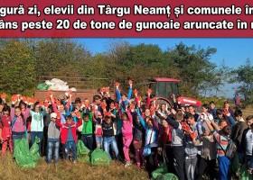 Elevii din zona Târgu Neamț au scăpat natura de peste 20 de tone de gunoaie