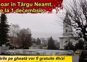 În curând, plimbări pe gheață, în centrul orașului Târgu Neamț