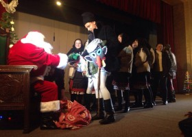 Moș Crăciun la Târgu Neamț