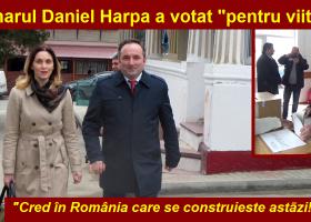 Primarul Daniel Harpa a votat