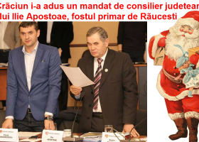 Moș Crăciun i-a adus un mandat de consilier județean fostului primar de Răucești