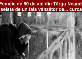 Femeie de 80 de ani din Târgu Neamț înșelată de un fals vânzător de… curcani