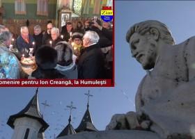 Slujbă de pomenire pentru Ion Creangă, la Humulești