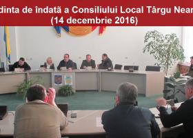 Ședința de îndată a Consiliului Local Târgu Neamț (14 decembrie 2016)