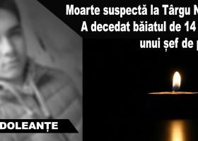 Moarte suspectă la Târgu Neamț. A decedat băiatul de 14 ani al unui șef de partid