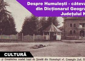 Despre Humulești – câteva date din Dicționarul Geografic al Județului Neamț