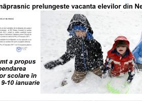 Gerul năprasnic prelungește vacanța: ISJ Neamț a propus suspendarea cursurilor școlare luni și marți