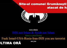 Site-ul comunei Grumăzești a fost atacat de hackeri