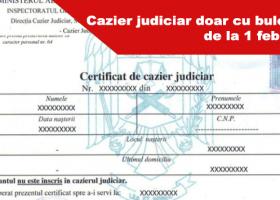 Taxa de cazier nu se mai plătește din februarie