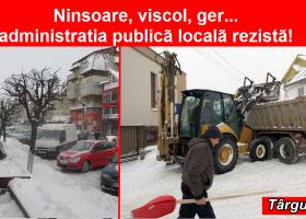 Târgu Neamț: Ninsoare, viscol, ger… administrația publică locală rezistă!
