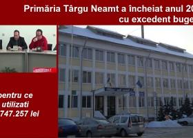 Primăria Târgu Neamț a încheiat anul 2016 cu excedent bugetar