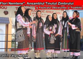Grupul Flori Nemțene la Festivalul Tradițiilor și Obiceiurilor de Anul Nou (2 ianuarie, Târgu Neamț)