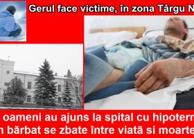 Trei oameni au ajuns cu hipotermie la Spitalul din Târgu Neamț. Unul dintre ei a fost transferat la Piatra Neamt, în comă