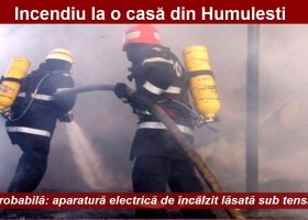 Incendiu la o casă din Humulești