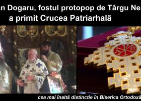 Pr. Dogaru a primit Crucea Patriarhală, cea mai înaltă distincție a Bisericii Ortodoxe