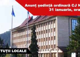 Se convoacă CJ Neamț în ședință ordinară marți, 31 ianuarie, ora 14:00