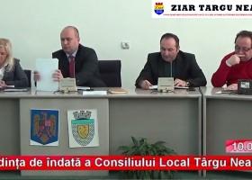 Ședința de îndată a Consiliului Local Târgu Neamț (10 ianuarie)