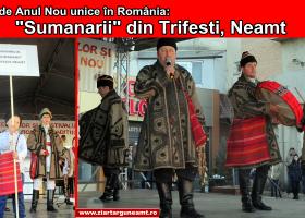 """Tradiții de Anul Nou unice în România: """"Sumanarii"""" din Trifești, Neamț"""