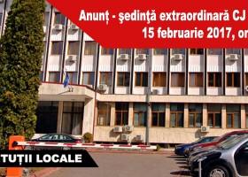 Anunț – şedinţă extraordinară CJ Neamț, 15 februarie 2017, ora 15.00