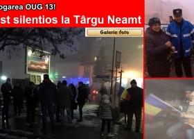 30-40 de târgnemțeni au ieșit în stradă. Cer abrogarea OUG 13/2017