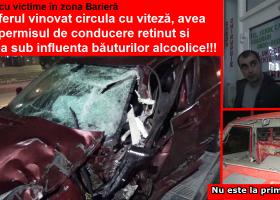 Accident cu victime în zona Barieră. Șoferul vinovat avea viteză, permisul reținut și părea în stare de ebrietate