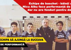 Echipa de baschet de nota 10 a Școlii Gimnaziale Nicu Albu are nevoie de ajutorul tău urgent!