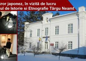 Cercetător japonez în vizită de lucru la Muzeul de Istorie și Entografie Târgu Neamț