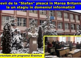 """24 de elevi """"realiști"""" de la C.N. """"Ștefan cel Mare"""" pleacă în Marea Britanie"""