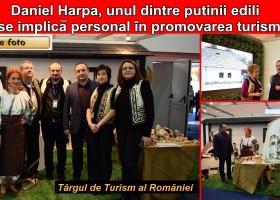 Primarul Daniel Harpa, unul dintre puținii edili care se implică personal în dezvoltarea turistică a zonei