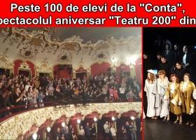 """Peste 100 de elevi de la Liceul """"Vasile Conta"""", la spectacolul aniversar """"Teatru 200"""" din Iași"""