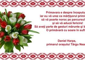 Primar Daniel Harpa- Felicitare de Mărțișor