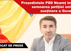 PSD Neamț își reafirmă susținerea față de guvernul PSD-ALDE și față de primul-ministru Sorin Grindeanu