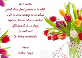 Felicitare 8 martie – Primar Harpa Vasilica