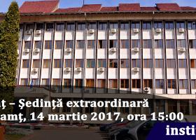 Anunț – Ședință extraordinară CJ Neamț, 14 martie 2017, ora 15:00