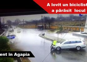 Agapia: O șoferiță a accidentat un biciclist, apoi a părăsit locul faptei