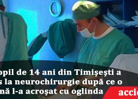 Comuna Timișești: copil în stare gravă, după ce a fost acroșat de o mașină