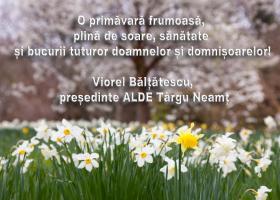 Felicitare 8 Martie – Viorel Bălțătescu, președinte ALDE Târgu Neamț