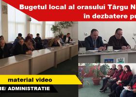 BUGETUL LOCAL ȘI LISTA DE INVESTIȚII PENTRU 2017, ÎN DEZBATERE PUBLICĂ